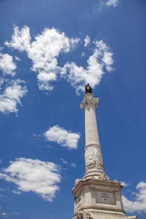 Pedro IV Statue in Lisbon , Portugal
