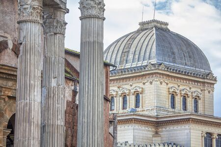 ancient ruins and architecture with columns in Rome