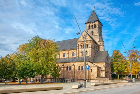 view of catholic church in Luxembourg Stock Photo