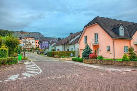 typical street with pavement in Luxembourg