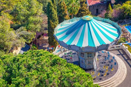 aerial view of fairy carousel