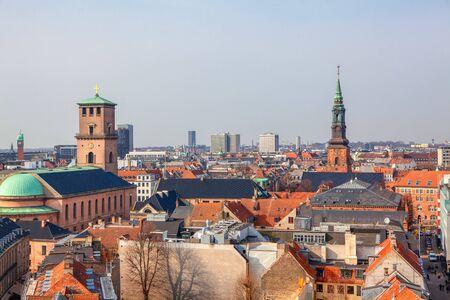 Vue aérienne du centre de Copenhague Banque d'images