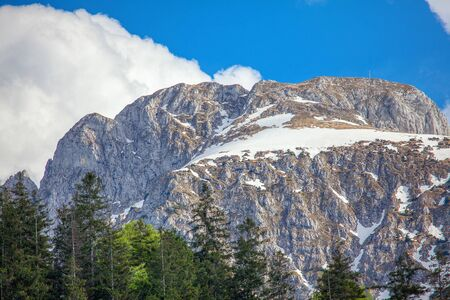 snow on the top of the Alps