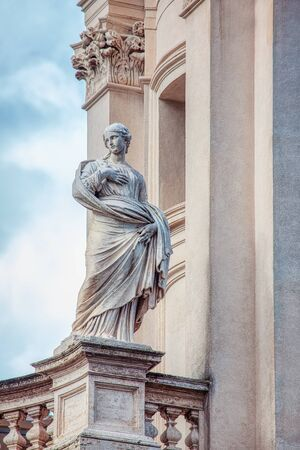 statue of a woman in Rome