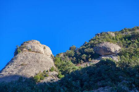 natural scenery with Montserrat mountain peak 版權商用圖片