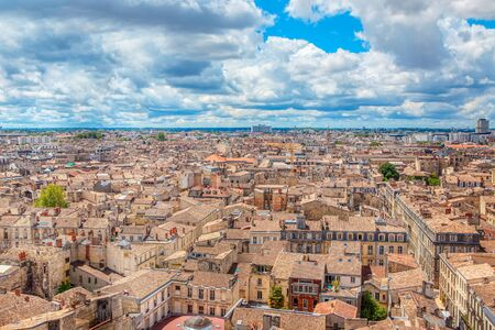Bordeaux french city aerial view