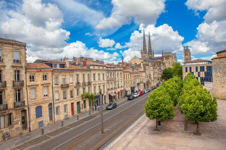 view of street in Bordeaux , France Stock Photo