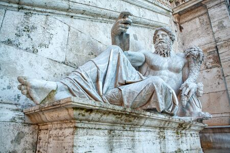 Statue of Fountain of the Tyrrhenian in Rome