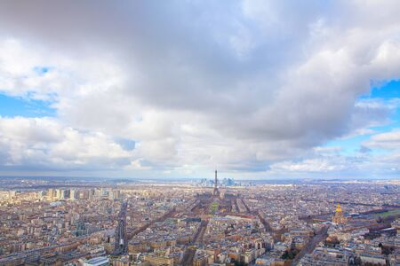 Aerial view view of central Paris
