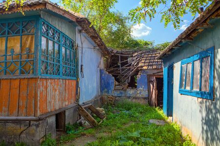ruined house in the abandoned village