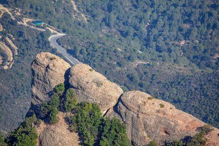 close up image of Montserrat mountain peak