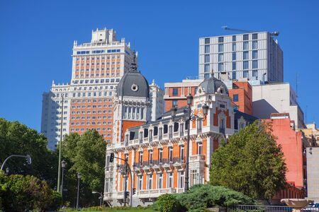 Architecture of Plaza de Espana in Madrid