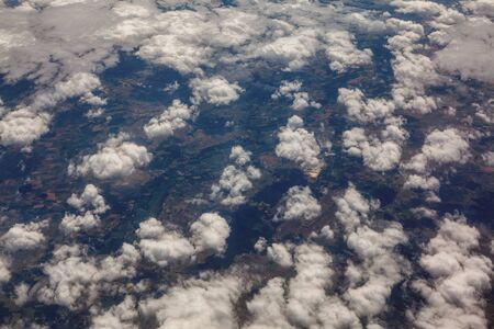 aerial view of clouds over the country
