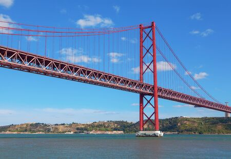 The 25th April Bridge in Lisbon, Portugal