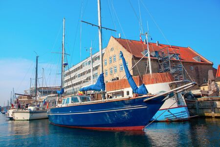 Copenhagen harbour with boats and yachts