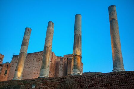 Rome Italy ancient ruined columns