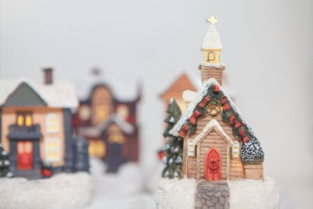 Christmas wonderland with toy houses