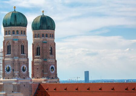 cupolas of famous Frauenkirche in Munich