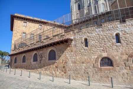 base of Tibidabo church in Barcelona Imagens