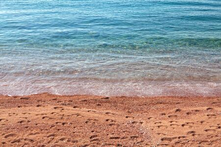 transparent sea water and sandy sea