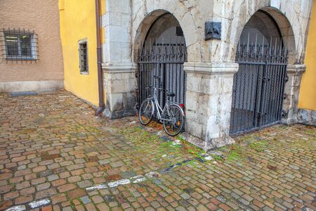 bicycle and old town arches