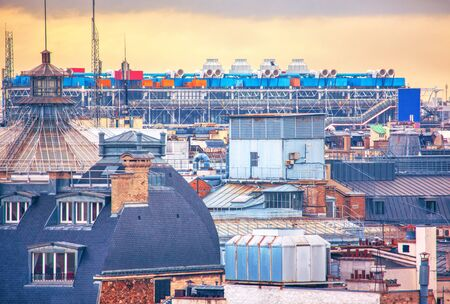 colorful image of Parisian rooftops