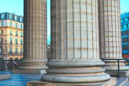 architectural details of antique columns