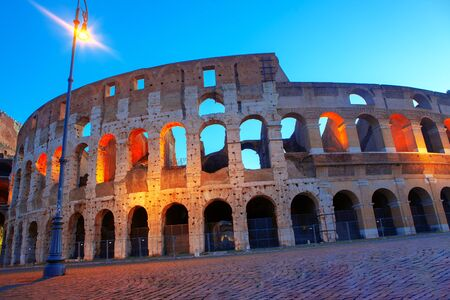 image of Colosseum in the morning