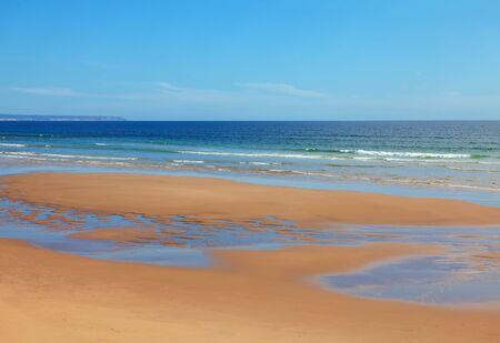 Costa da Caparica beach , sandy Atlantic Ocean coast