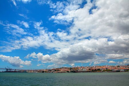 Tagus River and Lows Clouds over Lisbon