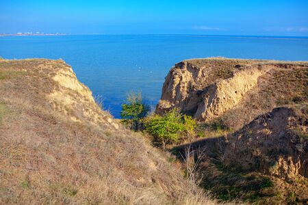 coastal nature with clay cliff