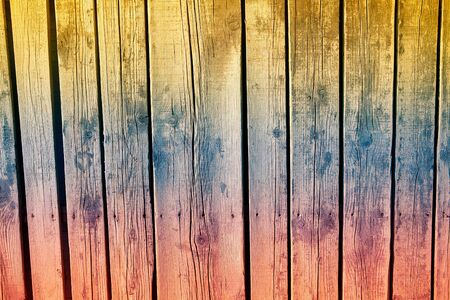 Background of Nailed Wooden Planks . Colors Gradient of Wooden Surface