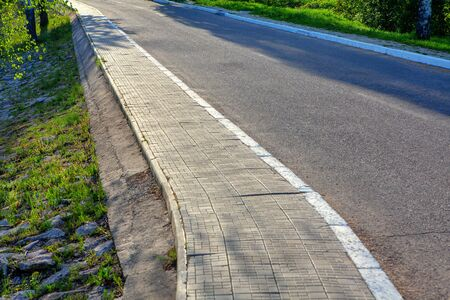 Pavement and Asphalt Road . Pedestrian Path and Transport Way