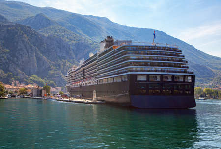 Modern cruise Liner in the Harbour . Modern Cruising Around the World
