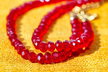 Red stone beads . High quality gemstone jewelry