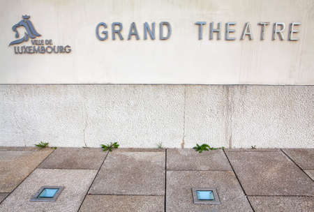 Inscription of Grand Theatre de la Ville de Luxembourg