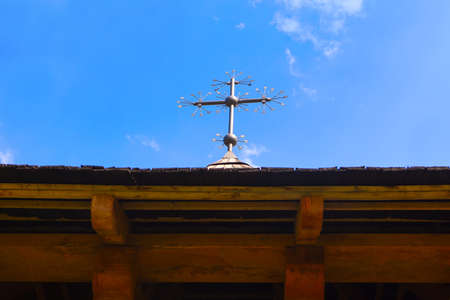 Cross on the church roof. Christian symbol