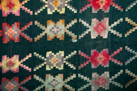 Ragged carpet made in old balkan style