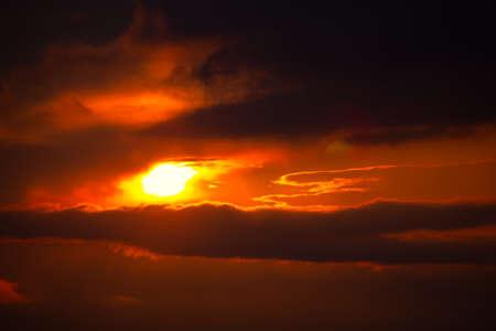 Dramatic Sky with Sunbeam . Spectacular Twilight Heaven Standard-Bild