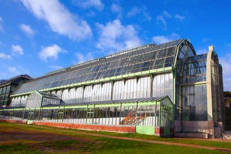 Greenhouse in Botanical garden from Paris
