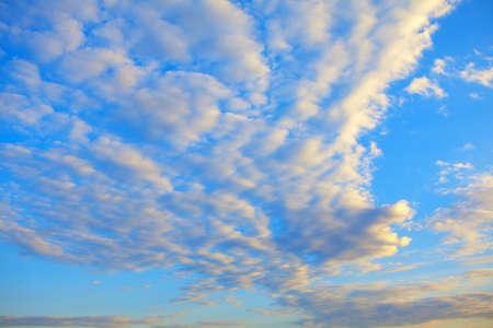 Altocumulus clouds on the morning sky Stok Fotoğraf - 154842295