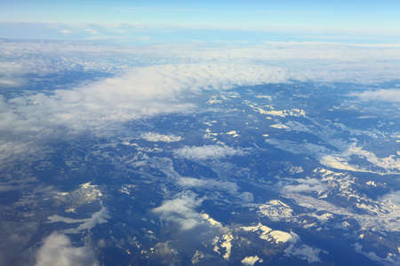 mountain range aerial view part of the Pennine Alps