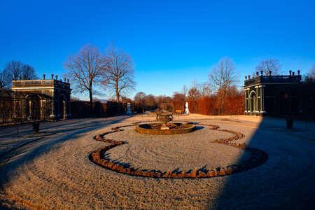 Scenery of Vienna Chamber Garden in Winter 스톡 콘텐츠