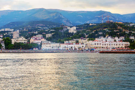 View from the sea of Yalta city in Crimea