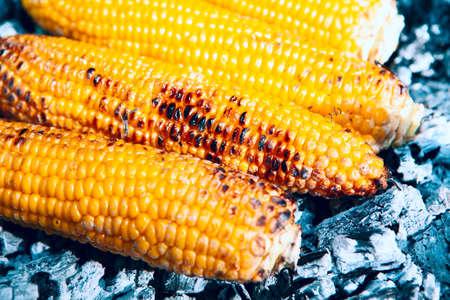 Sweet corns on the embers