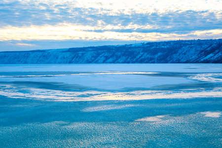 Unspoilt natural landscape in winter