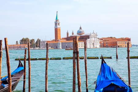View of Church of San Giorgio Maggiore Venice . Island of Saint Giorgio Maggiore 스톡 콘텐츠