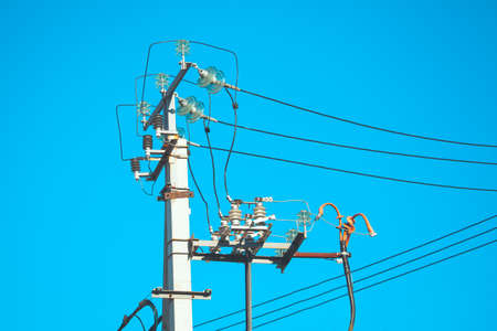 high voltage electrical pole connections