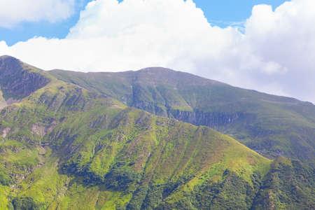 Green mountain in the spring season