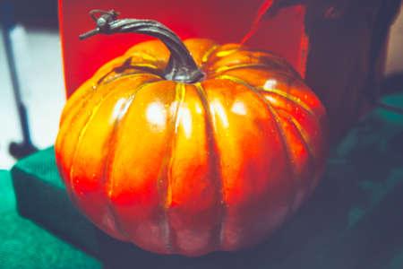 Pumpkin made by wax , decor for showcase